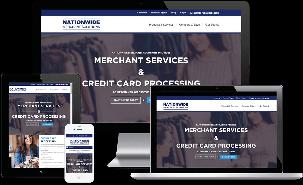 Website Design Example Merchant Services